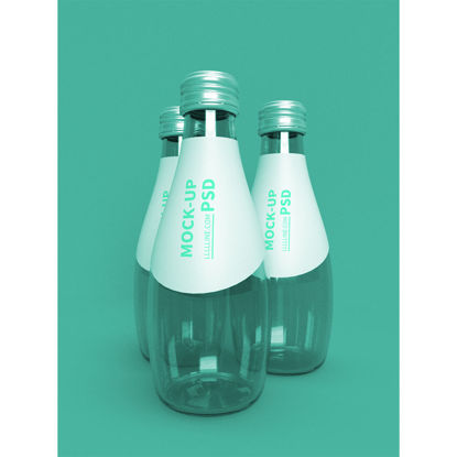 packaging mockup of beverage glass bottle in restaurant