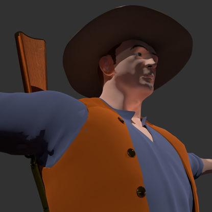 COWPUNCHER Geoptimaliseerd 3D Western Character Model