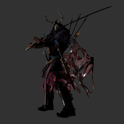 DEAD GENERAL Optimized Creature Character 3d модел
