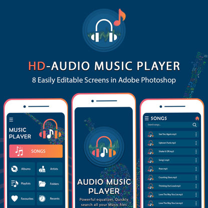 HD-Audio Music Player UI/UX