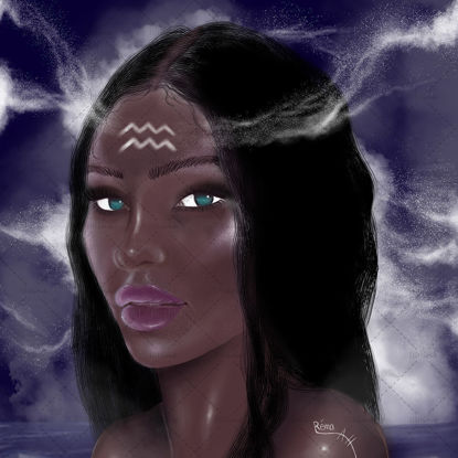 Aquarius Girl Digital drawing