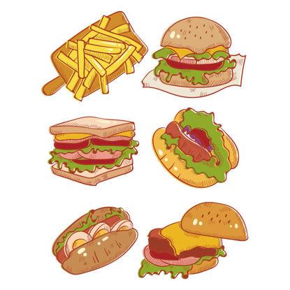 Vector menu food fast food