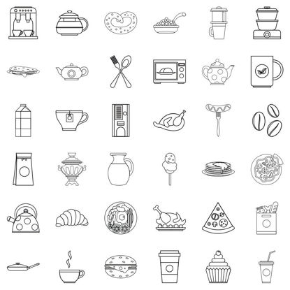 36 kinds of food vector ICON