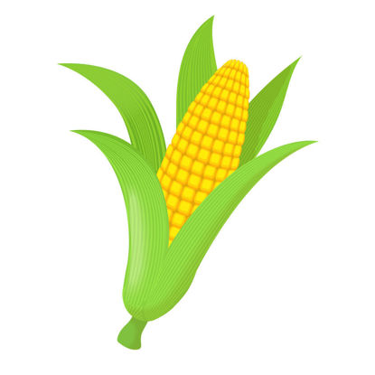 Vector cartoon corn