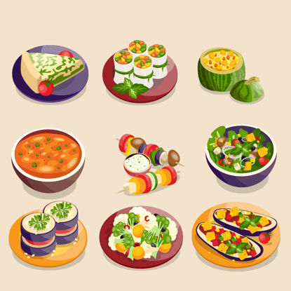 fresh vegetable food vector