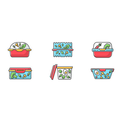 Vector plastic salad container icon