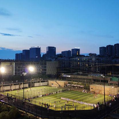 city football field night view