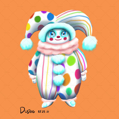 Clown Doll Original art IP