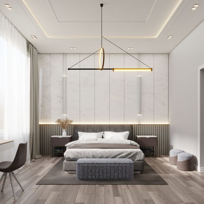 Stylish Bedroom Interior - Blender 3d model