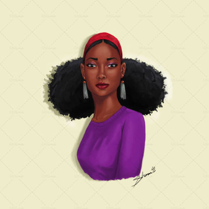 Afro Girl Digital Painting