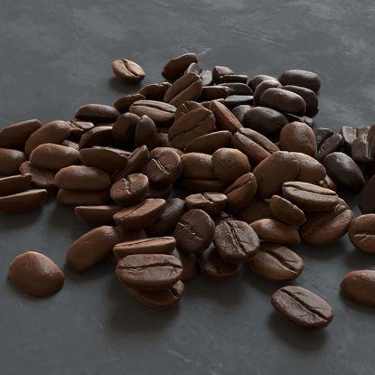 Coffee beans 3D model