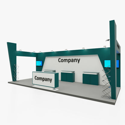 Exhibition stand back wall only 3d model