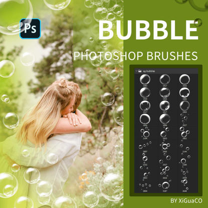 27 high definition bubbles and bubble group brushes