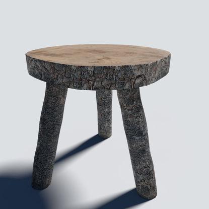Log Stool 3d model