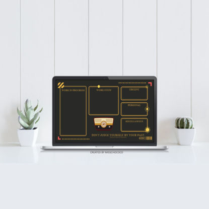 Retro style Desktop Organization Wallpaper