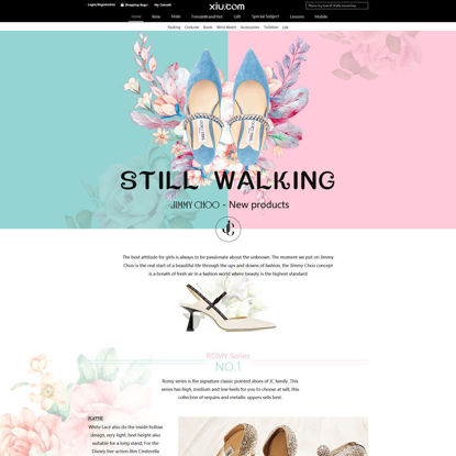 Shoe Web site Template