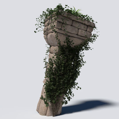 Overgrown Column 3d model