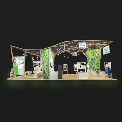 Food Agricultural milk exhibition booth design 3d model