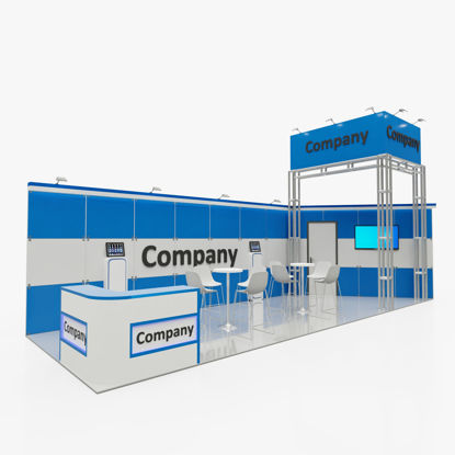 Blue Tile Exhibition Stand 3d model