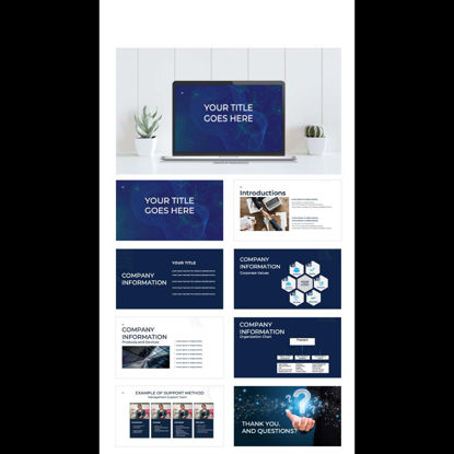 Tech Style Power Point Presentation Templates