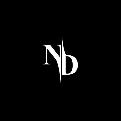ND Monogram Logo V5 vector