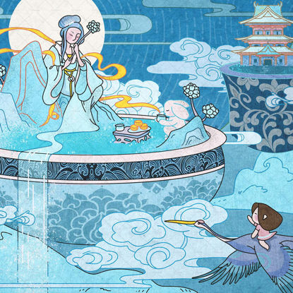 Chinese Holiday Illustration Series-Mid-Autumn Festival