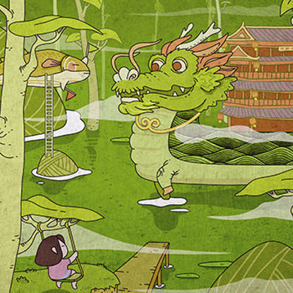 Chinese Holiday Illustration Serie The Dragon Boat Festival