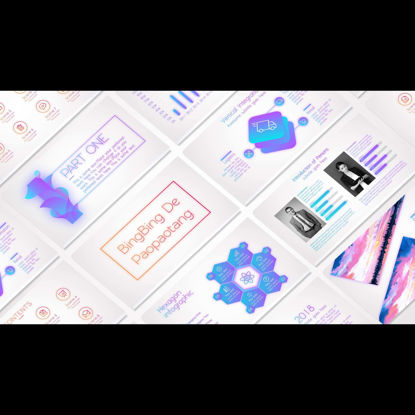 Colorful gradient dispersion shadow PPT template