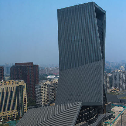 Aerial photos of international trade building in Beijing, China