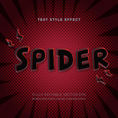 Spider Editable Superhero Style Text Effect