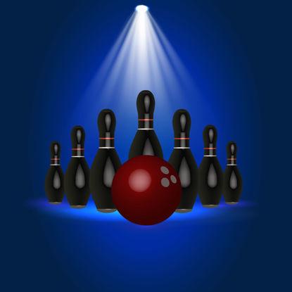 Bowling Vector Illustration 3D Graphic Element