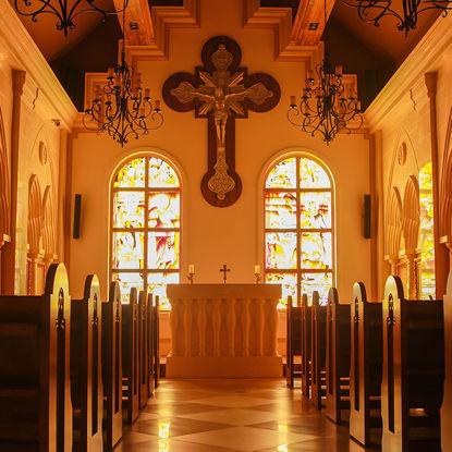 Horizontal church photo