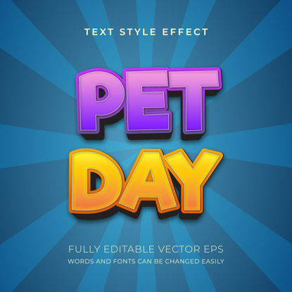 Pet Day Editable Multi color Text Style Effect
