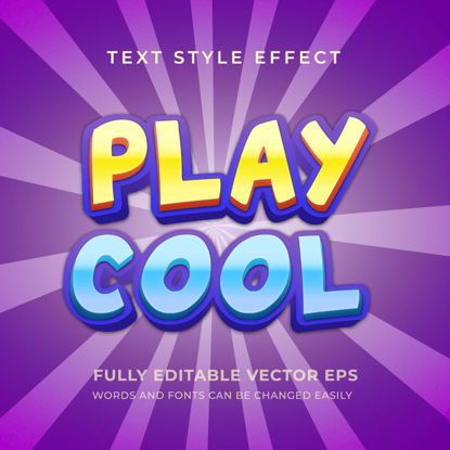 Play Cool Editable Multi color Text Style Effect