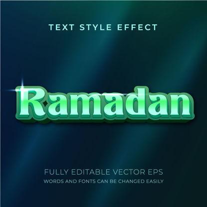 Ramadan Kareem Luxury Green Editable Text Style Effect