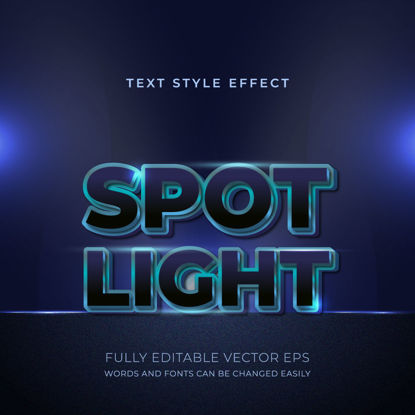 Spotlight Blue Luxury Editable Text Style Effect