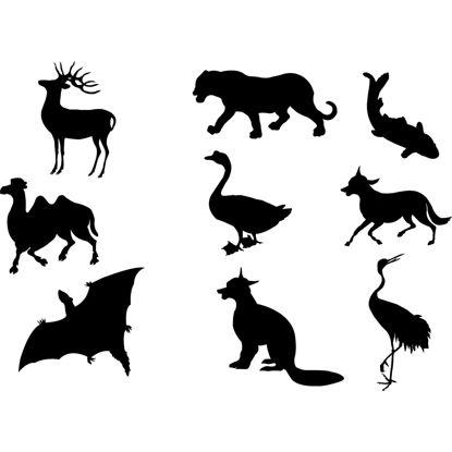 Animal silhouette AI vector