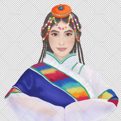 Minority girl illustration