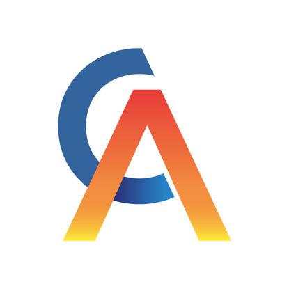 AC letter mark gradient logo