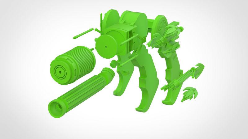 Grappling gun 3d model from the movie Batman vs Superman