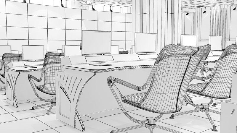 TV Studio Control Room 1 3d model