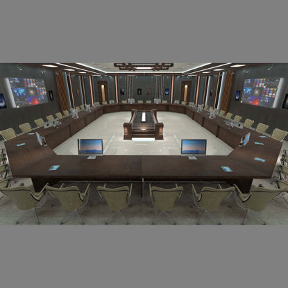 Meeting Room 3d model 1