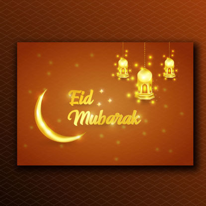 Eid mubarak luxe design fond vecteur or festif avec bougies