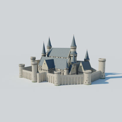Castle Kit Bash 3D-model