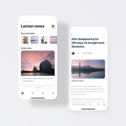 Nachrichten App UI UX Design