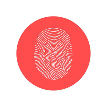 Fingerprint icon vector graphics