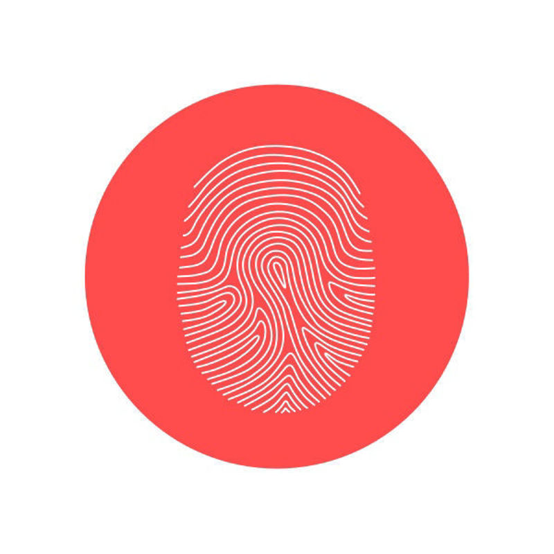 Fingerprint icon vector graphics