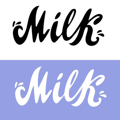 Milk hand lettering Digital download Lettering for printing Business logo for product