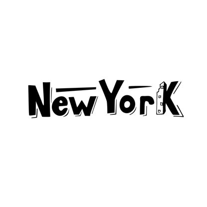 New York hand lettering. Digital download. Lettering for printing. Logo for travel agency, booklet, pamphlet, advertising booklet