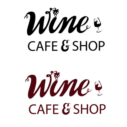 Wine cafe and shop. Hand lettering Digital download Lettering for printing Business logo for product